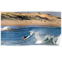 Body Boarding - Nobbys Beach NSW Poster