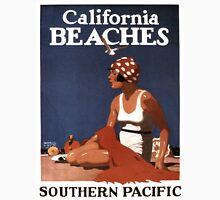 Vintage Travel Poster: California Beaches Unisex T-Shirt