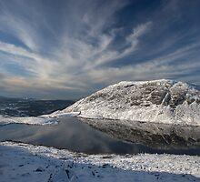 Manod Lake at Blaenau Ffestiniog by Rory Trappe