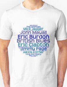 British Blues Artists T-Shirt