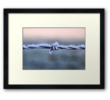 Sharp Frost Framed Print