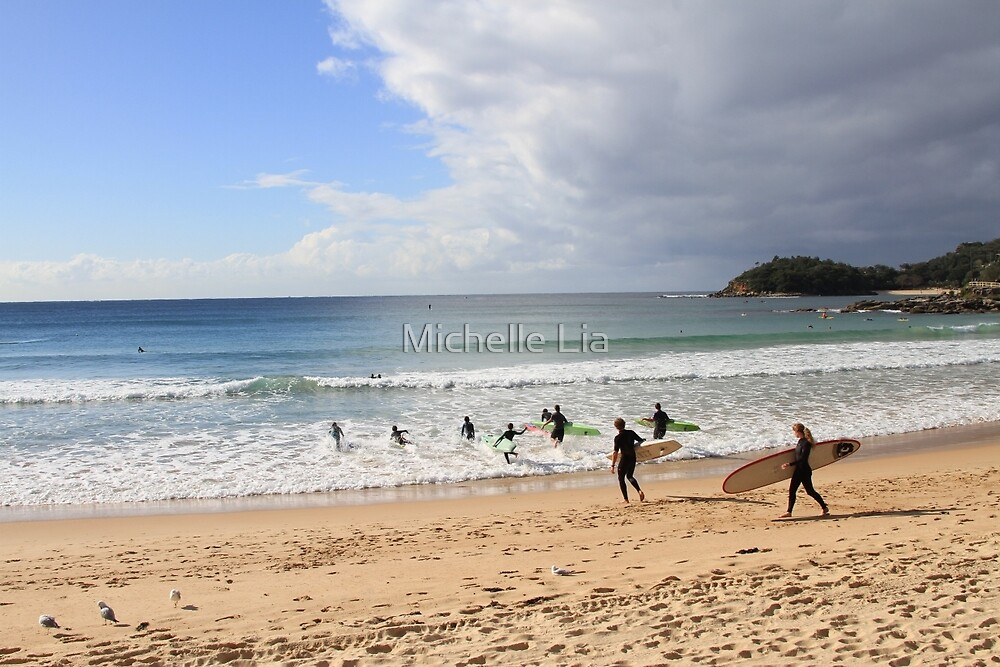 Manly Beach, Australia by Michelle Lia