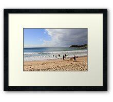 Manly Beach, Australia Framed Print
