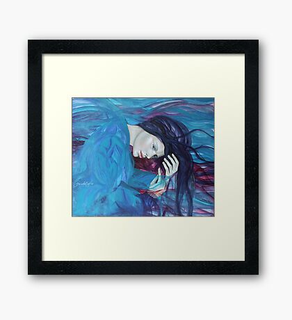 Whispers and waves - from WHISPERS series Framed Print
