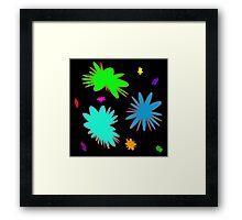 Colorful Rounded Stars, abstract Framed Print