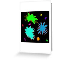 Colorful Rounded Stars, abstract Greeting Card