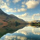 Buttermere and the High Stile Range by Jamie  Green