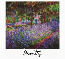 Monet - Flower Garden (Violet) One Piece - Long Sleeve