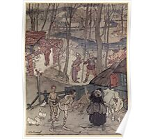 Irish Fairy Tales by James Stephans art by Arthur Rackham 1920 0343 They Offered a Cow for Each Leg of Her Cow Poster