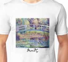 Monet - Japanese Bridge Unisex T-Shirt