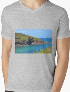 Cornwall Coastal View Mens V-Neck T-Shirt
