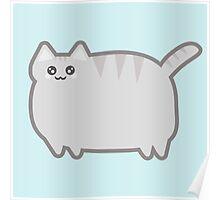 Kawaii Fat Cat Poster