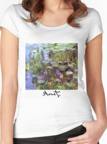 Monet - Waterlilies (Nympheas) Women's Fitted Scoop T-Shirt