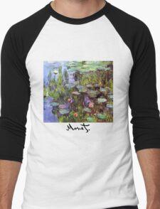 Monet - Waterlilies (Nympheas) Men's Baseball ¾ T-Shirt