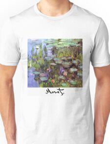 Monet - Waterlilies (Nympheas) Unisex T-Shirt