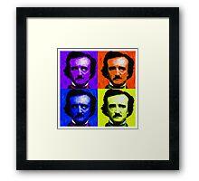 Pop Art - Edgar Allan Poe Framed Print