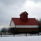 Red and White Barn by Brian Gaynor