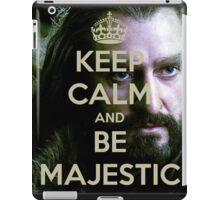 Keep Calm and be MAJESTIC! iPad Case/Skin