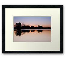 Winter Sunset At Cropston Reservoir Framed Print