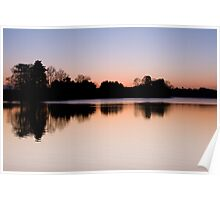 Winter Sunset At Cropston Reservoir Poster