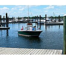 On the Water in Bristol Rhode Island Photographic Print