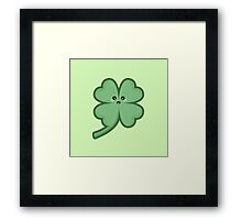 Kawaii Clover Framed Print