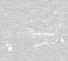 Circular Quay City Skyline White Silhouette Kids Tee