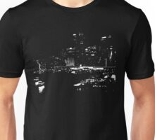 Circular Quay City Skyline White Silhouette Unisex T-Shirt