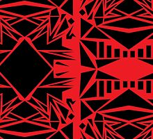 Geometric vector abstraction in red and black by NataliSven