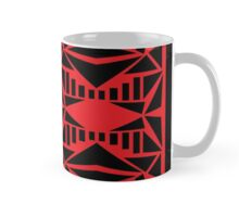 Geometric vector abstraction in red and black Mug