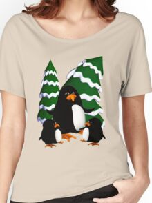 Happy Penguin Family Women's Relaxed Fit T-Shirt