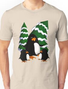 Happy Penguin Family Unisex T-Shirt