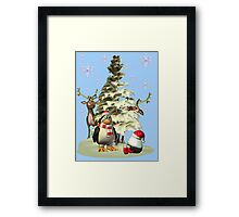 Looking for Santa.. tee shirt Framed Print