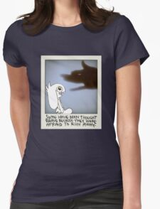 Bunny Wisdom: Brave/Afraid Womens Fitted T-Shirt