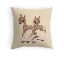 Cute Little Deer Throw Pillow