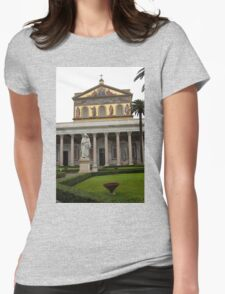 St Pauls outside the wall basilica  Womens Fitted T-Shirt