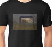 Old Barn in the Fog Unisex T-Shirt