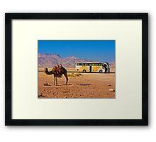 Ship of the desert. Jordan. Framed Print