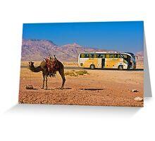 Ship of the desert. Jordan. Greeting Card