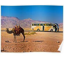 Ship of the desert. Jordan. Poster