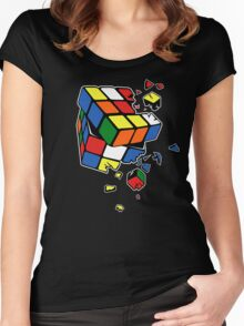 Exploding Cube Women's Fitted Scoop T-Shirt