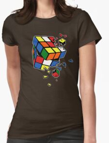 Exploding Cube Womens Fitted T-Shirt