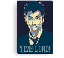 Doctor Who David Tennant Time Lord Canvas Print