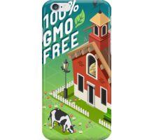Isometric GMO Free Farming iPhone Case/Skin