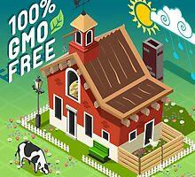 Isometric GMO Free Farming by aurielaki