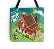 Isometric GMO Free Farming Tote Bag