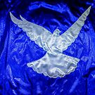 Dove on Blue by Julia Harwood