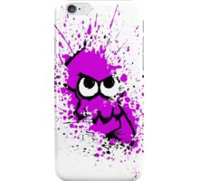 Splatoon Black Squid with Blank Eyes on Purple Splatter Mask White Version iPhone Case/Skin
