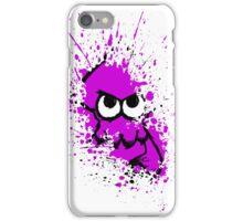 Splatoon Black Squid with Blank Eyes on Purple Splatter Mask White Version iPhone Case/Skin