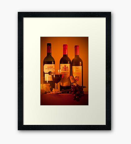 Fruit of the Vine and Stilton Cheese: mmmmmmm Framed Print